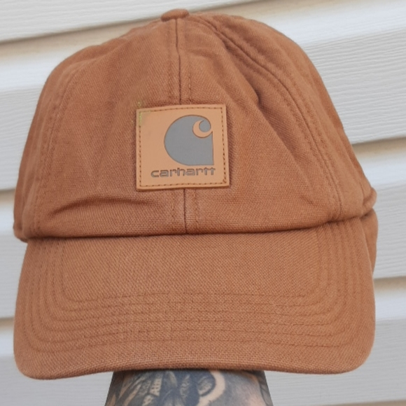 Carhartt Other - Carhartt tan canvas hat fleece lined